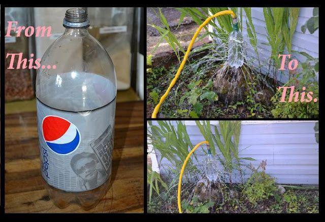 Water Sprinkler From A Soda Bottle Genius Water Sprinkler