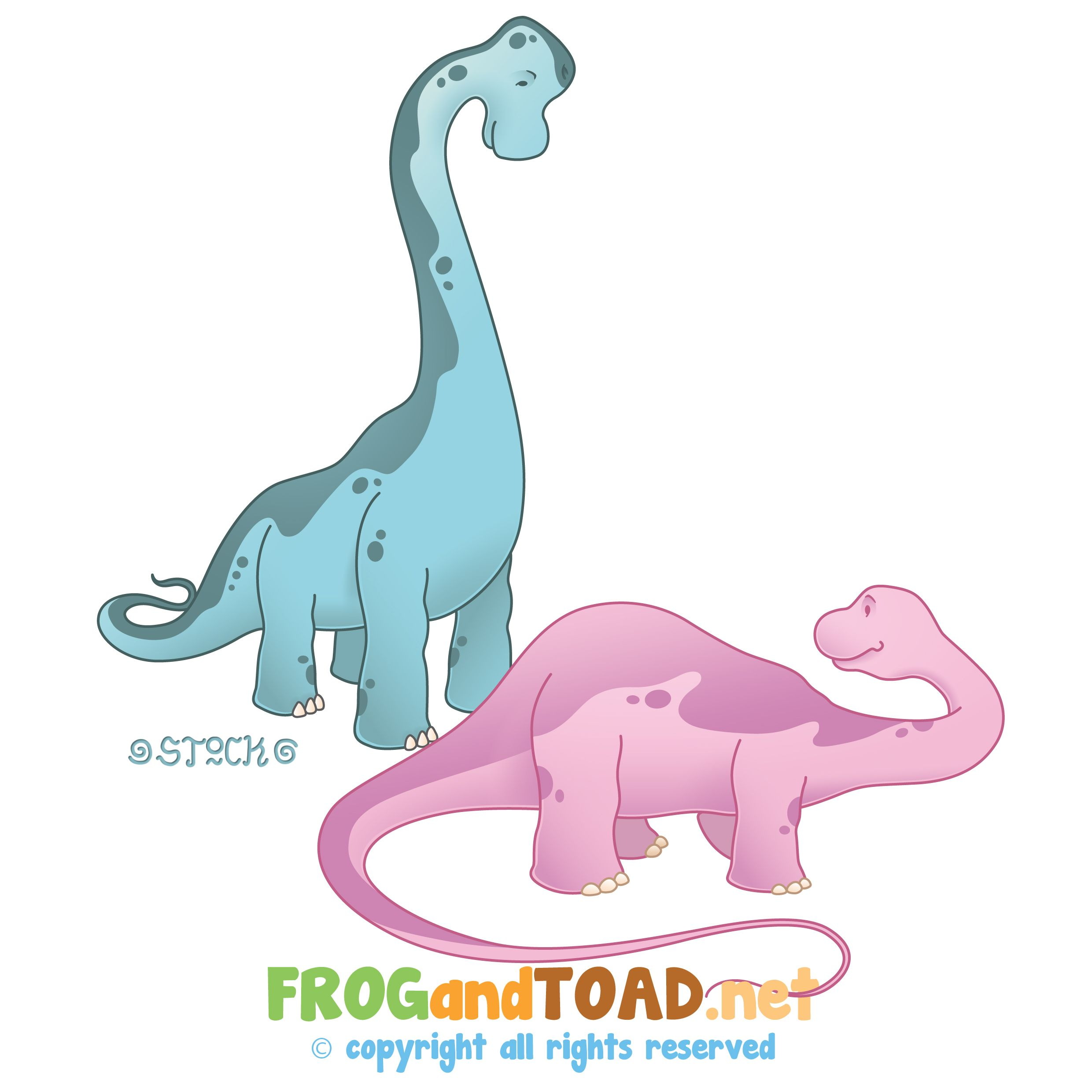 Brachiosaurus Diplodocus by TOAD  © copyright all rights reserved