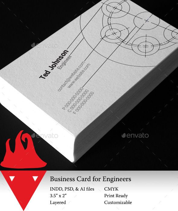 Business Card For Engineers Business Card Design Business Cards Creative Templates Business Cards Creative