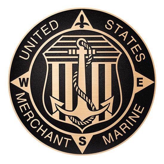 Merchant Marine Decal Sticker Seal Insignia American Vessel Car Window