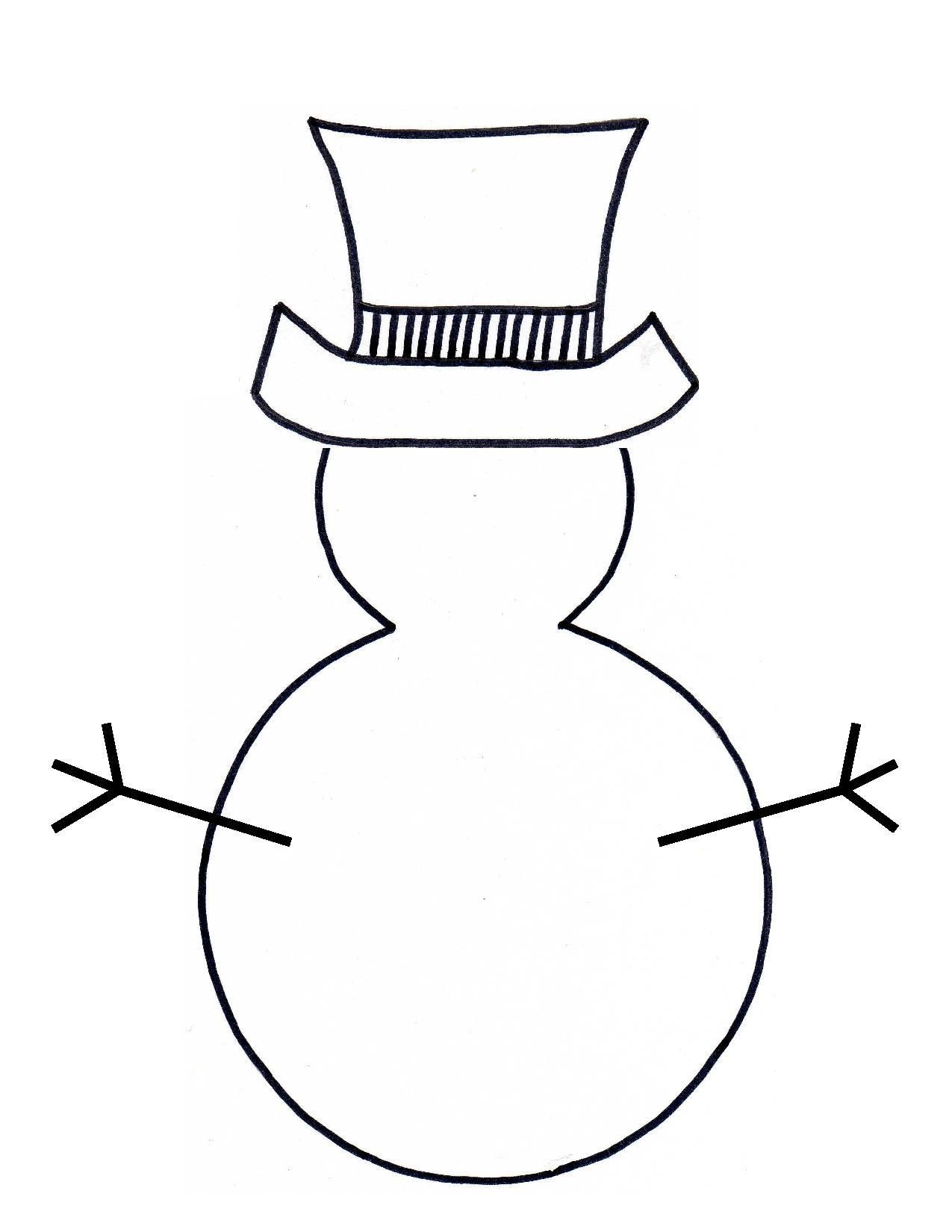 Snowman Outline Clipart Clipart Kid Preschool Christmas Crafts Preschool Christmas Winter Crafts