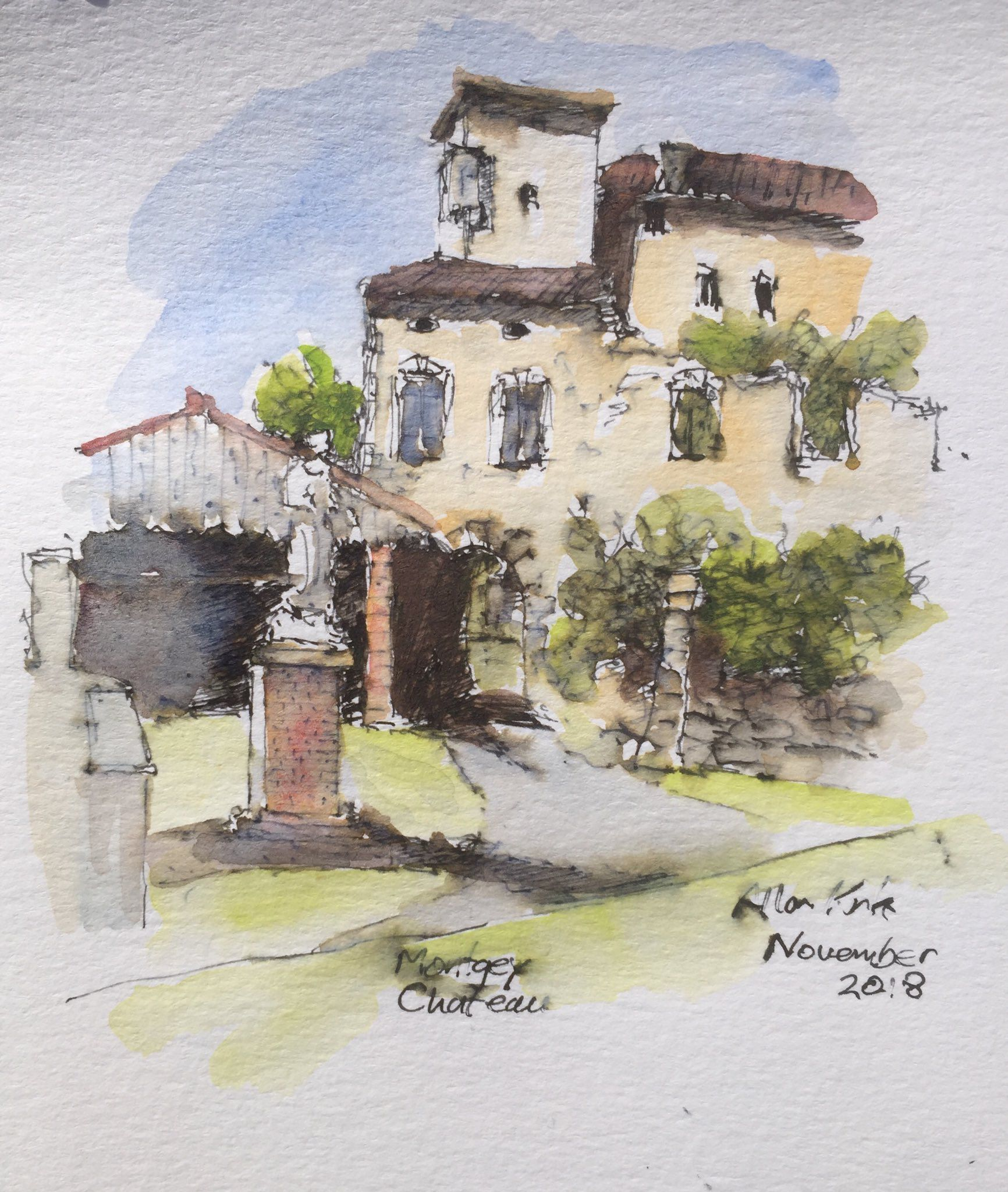 Chateau Montgey Art, Painting, France