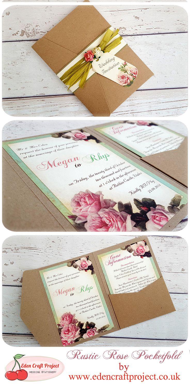 Vintage Rose Wedding Invitation, Perfect for Vintage, Shabby chic ...