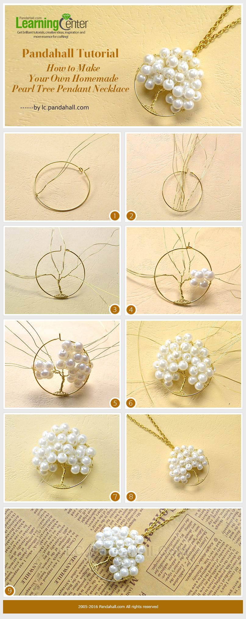 How To Make Your Own Homemade Pearl Tree Pendant Necklace