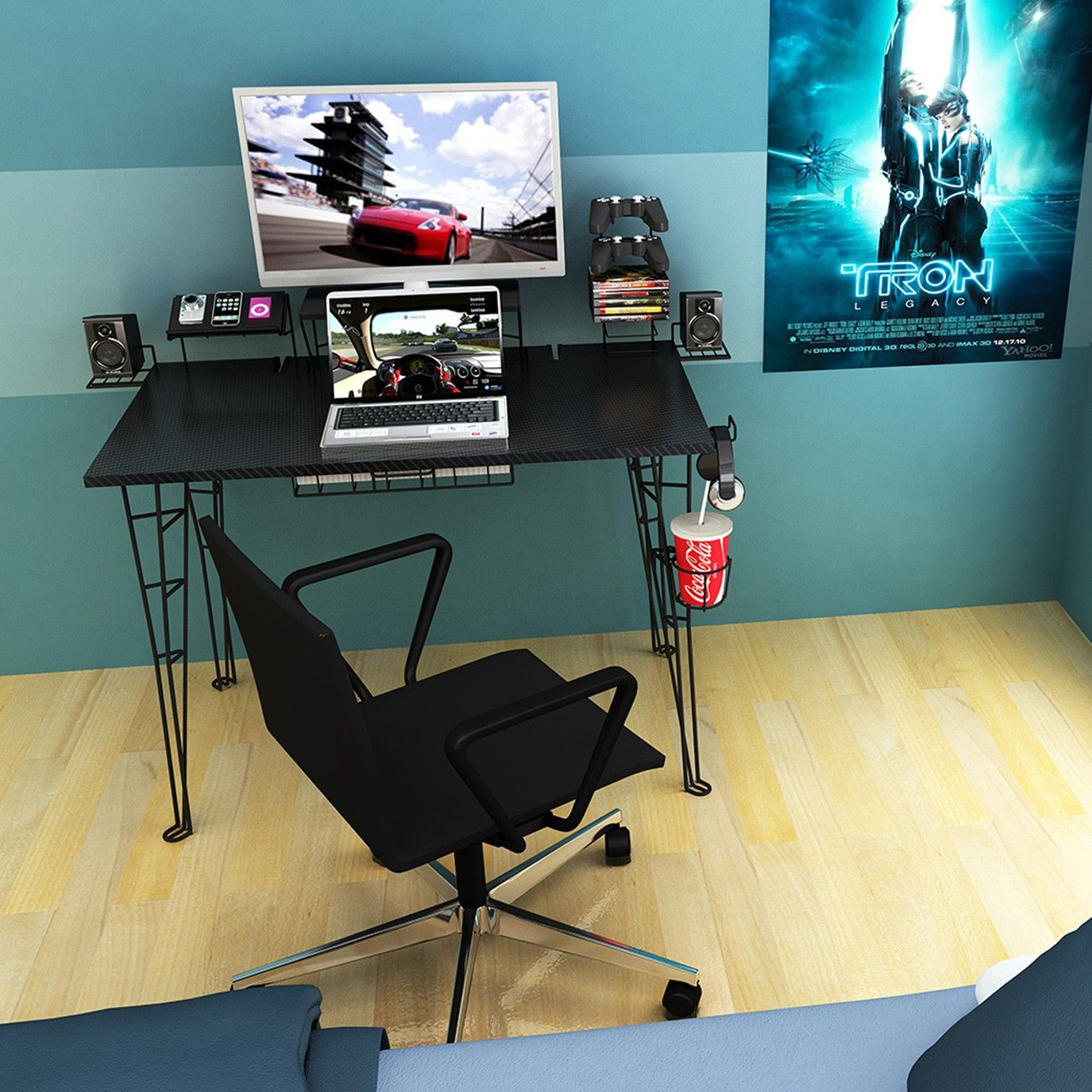 Bright Gaming Computer Desk : One Of The Best Gaming Desks Of 2015 ...