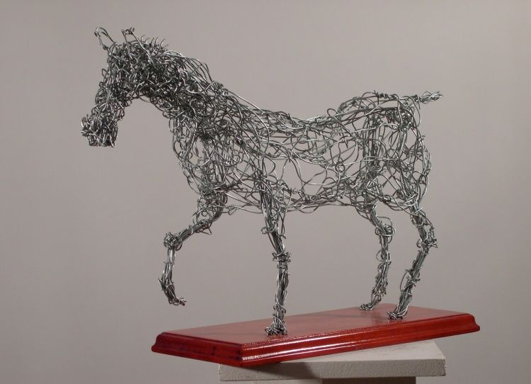 cheval fil de fer sculpture par robert chevalier art visuel pinterest fil de fer. Black Bedroom Furniture Sets. Home Design Ideas