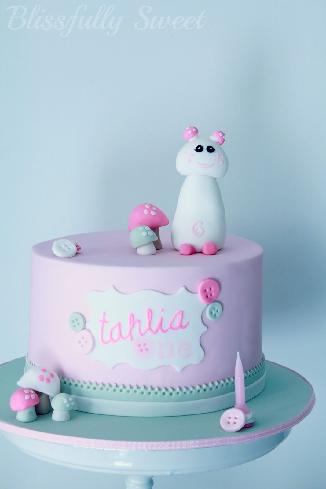 Blissfully Sweet Cute As A Button Birthday Cake