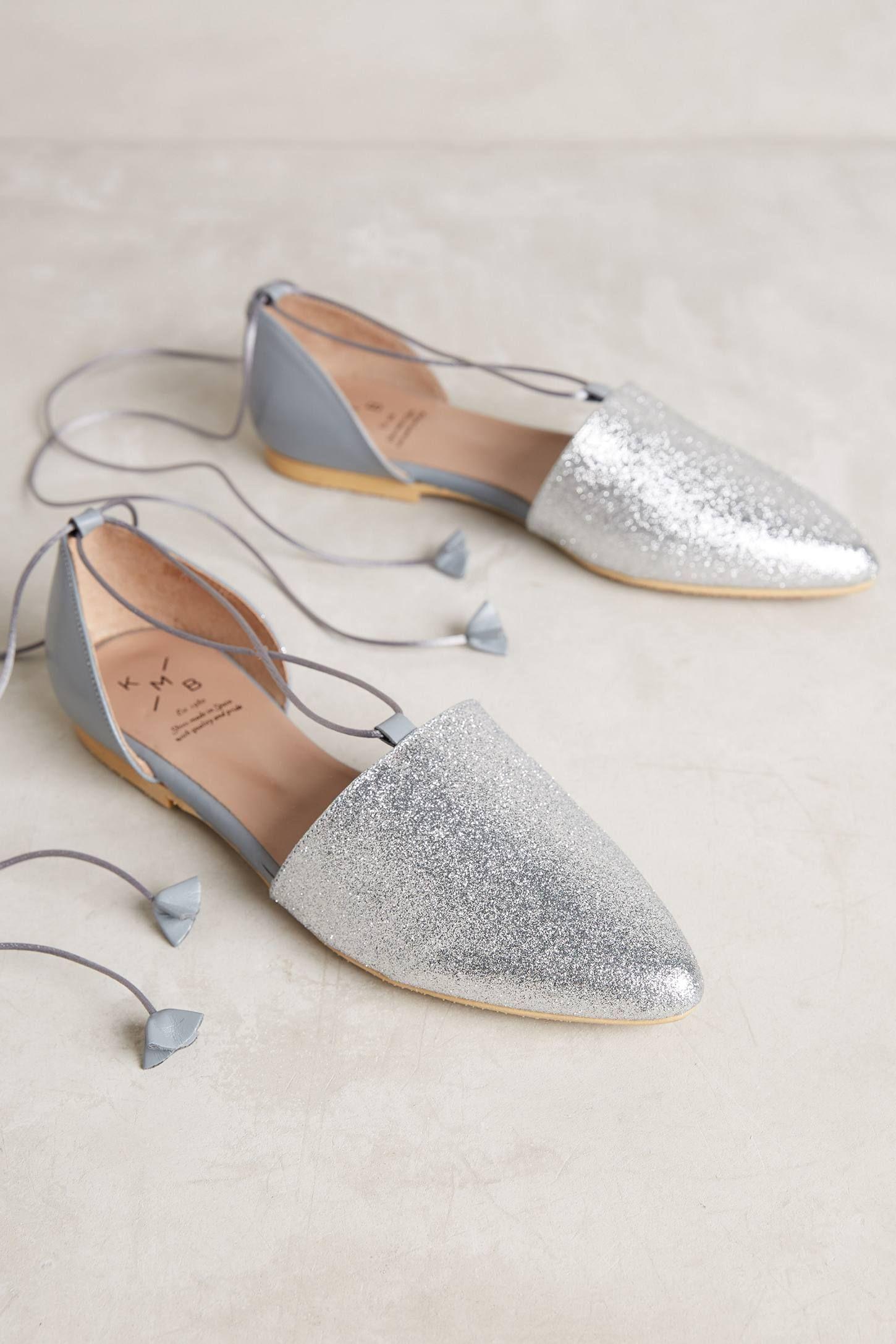 Glitter D'Orsay Flats