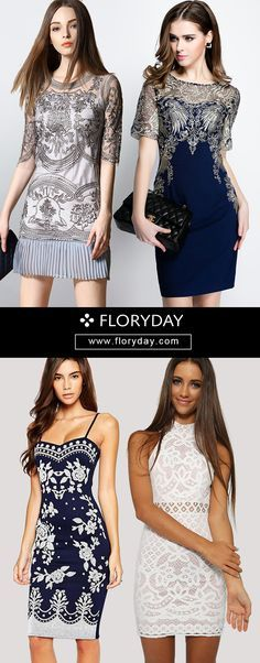 Get ready to show off that curves whether mix and match with that skimpy cutie dress, peplum picks or every girl's best friend, fitting dresses making transition from day to dance floor. Yes, for showing off the curves! View more at floryday.com