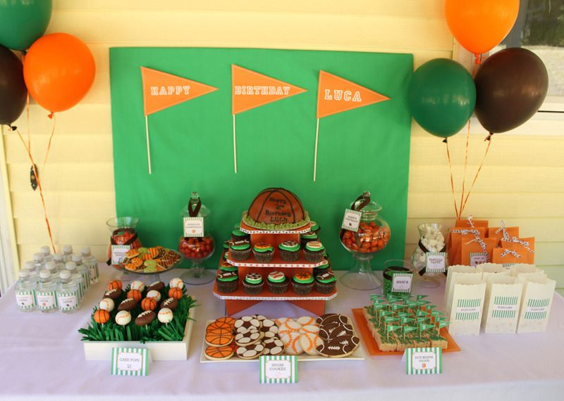 Sports Themed Childrens Rooms and Parties Dessert table