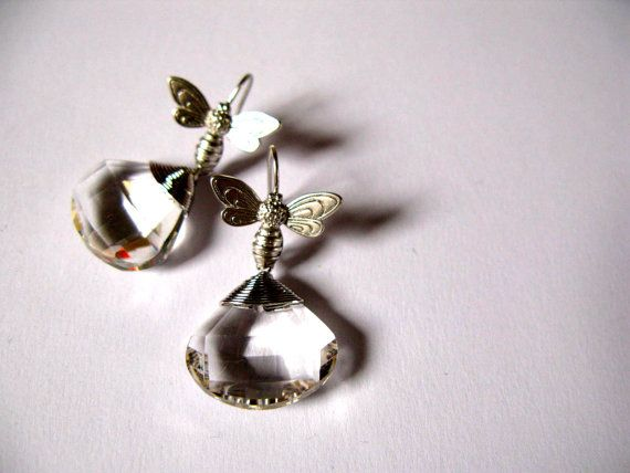 Bright Bees  earrings van KikiBelgium op Etsy, €14.00