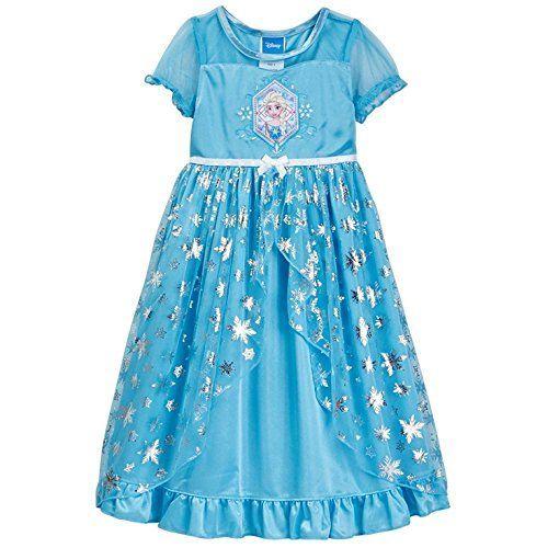 ade968d1be Disney Big Girls  Frozen Elsa Fantasy Nightgown