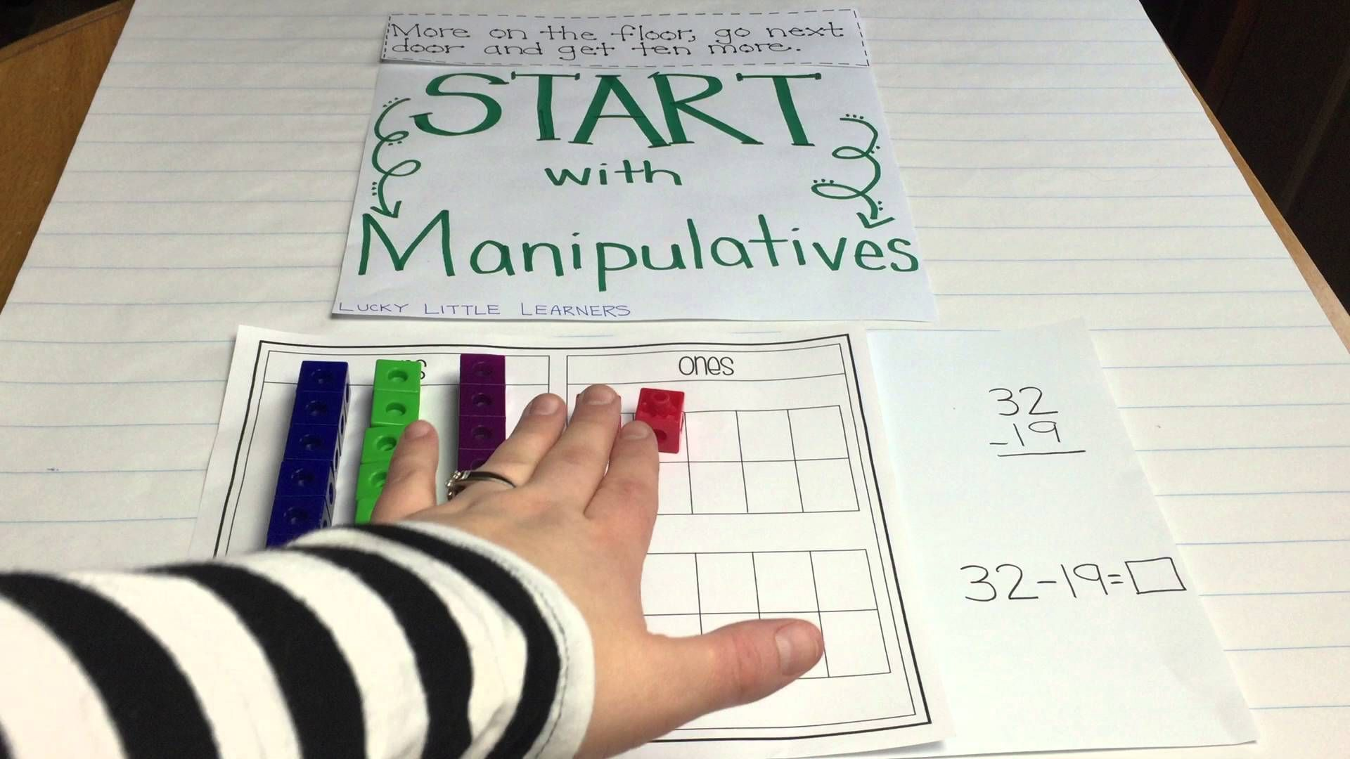 Subtraction With Regrouping Using Manipulatives