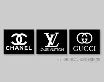 Chanel Louis Vuitton Gucci Logo Fashion By Rhondavousdesigns2 Chanel Decor Pinterest Room Decor Glamorous Decor