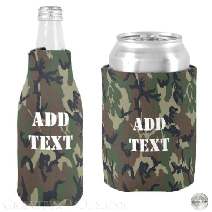 Military Green Camouflage Pattern Can Cooler | Zazzle.com