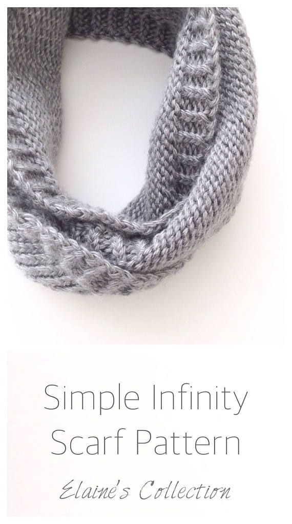 Infinity Scarf Printable Pdf Knitting Patterns For Women Knit Scarf