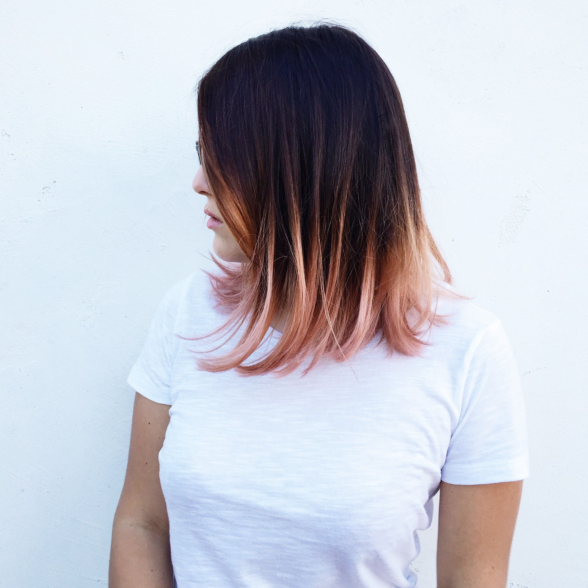 rose gold ombr eacute rosegold ombre hair stories rose gold