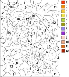 Printable Color by Number for Adults | COLOR BY NUMBER ...