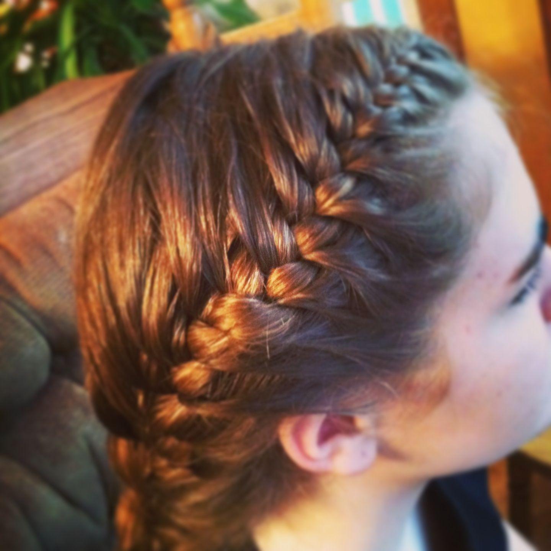 Volleyball braid sports hair pinterest volleyball braids
