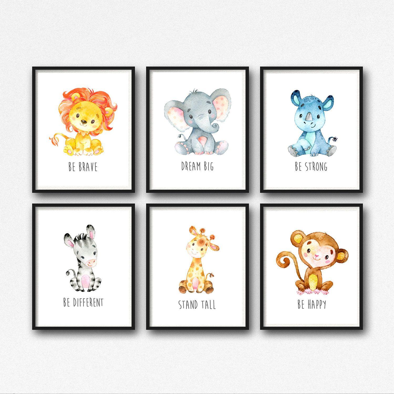 Animals Printable Nursery Art, Jungle Animals Nursery