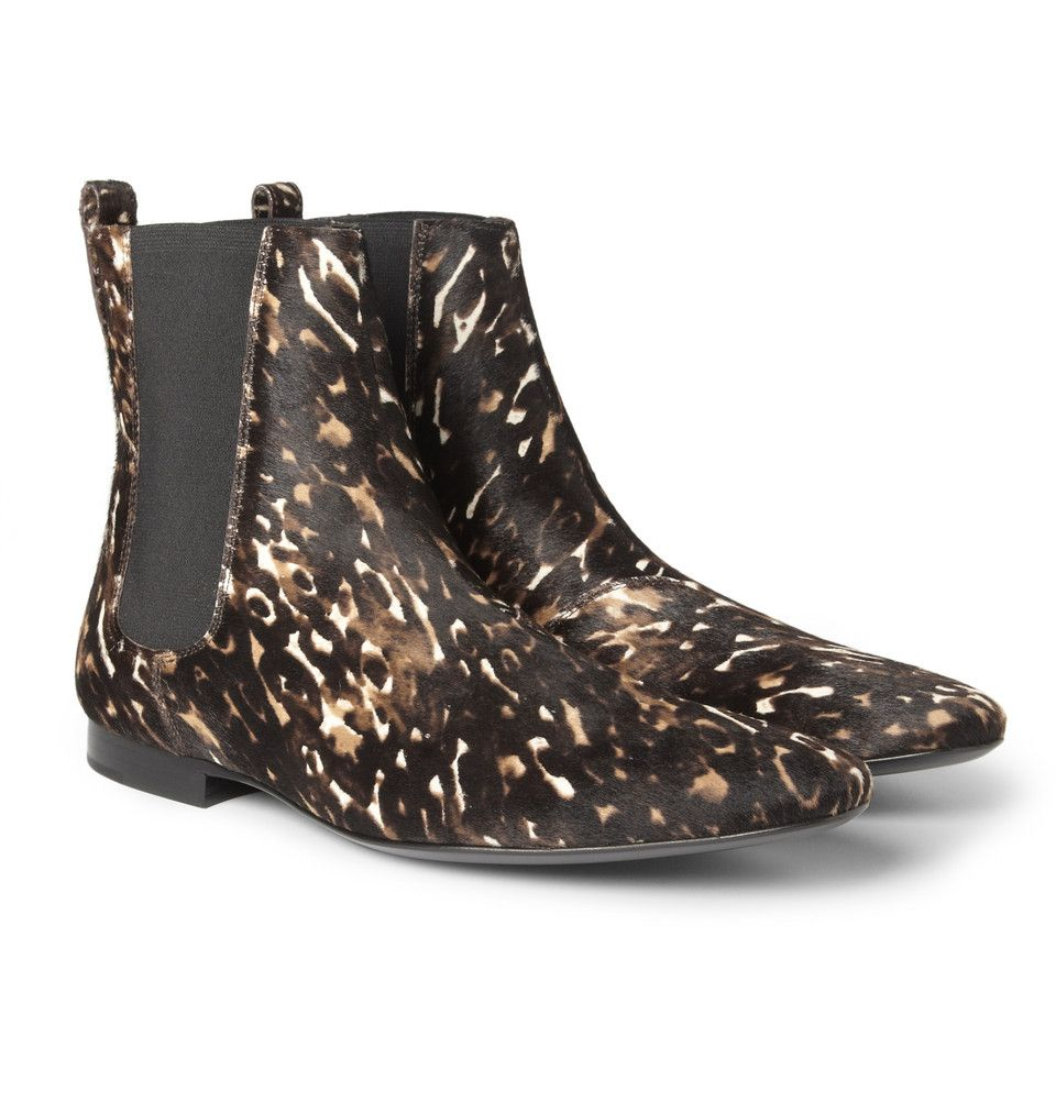663d52350ca9 Burberry Shoes   Accessories Printed Calf Hair Chelsea Boots