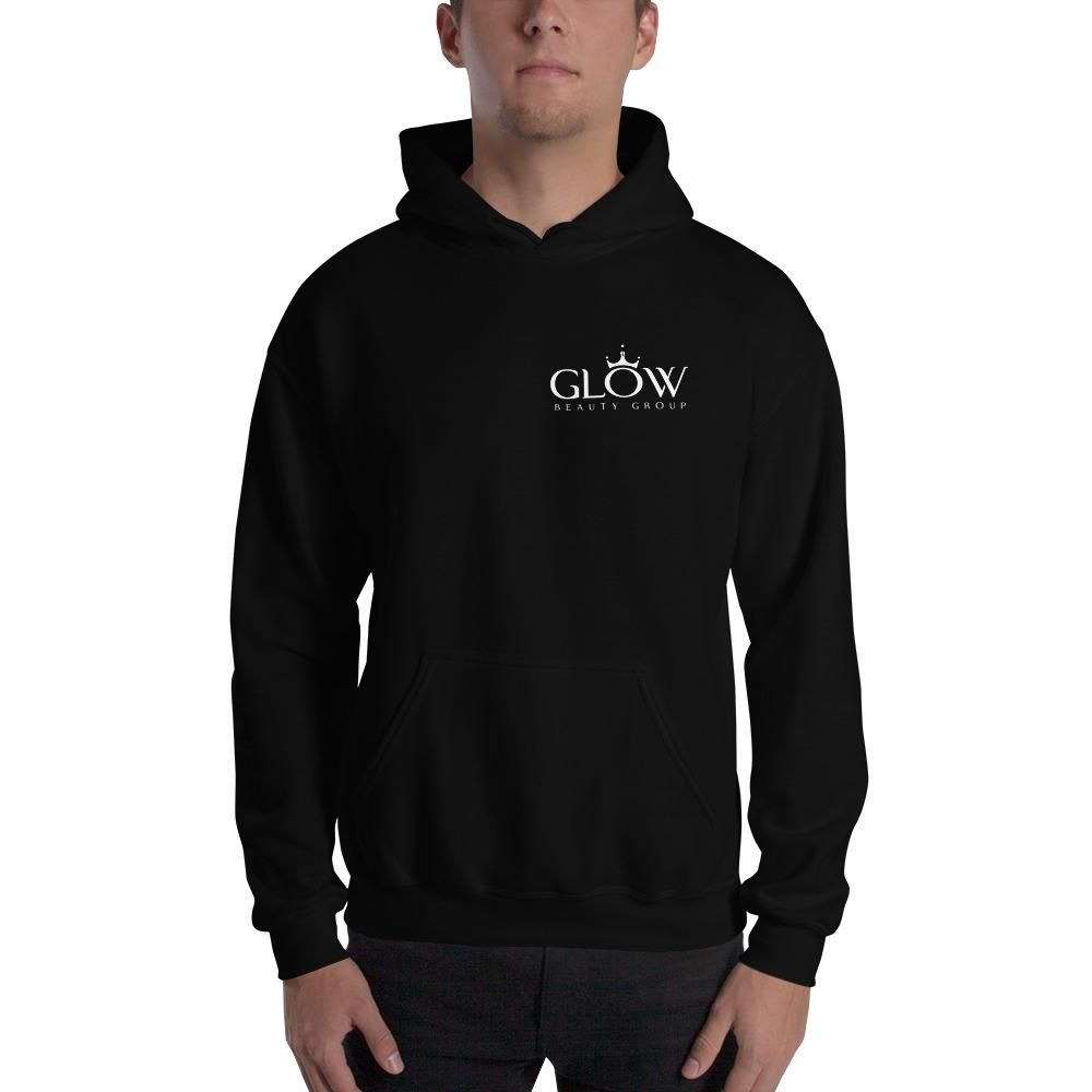 Low Key GLOW Hooded Sweatshirt - Black / 2XL