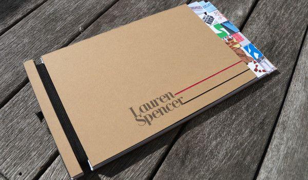 Handmade Portfolio By Lauren Spencer Via Behance Portfolio Book Portfolio Design Portfolio Covers
