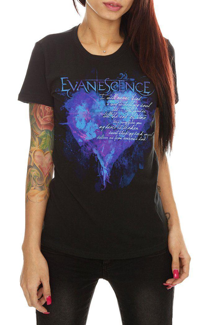 ab8189b1beada Evanescence Heart T-shirt