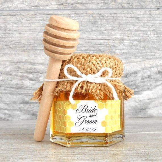 "Wedding Gift Tax: 100 (3 1/4"") Mini Honey Dippers Wood Sticks"