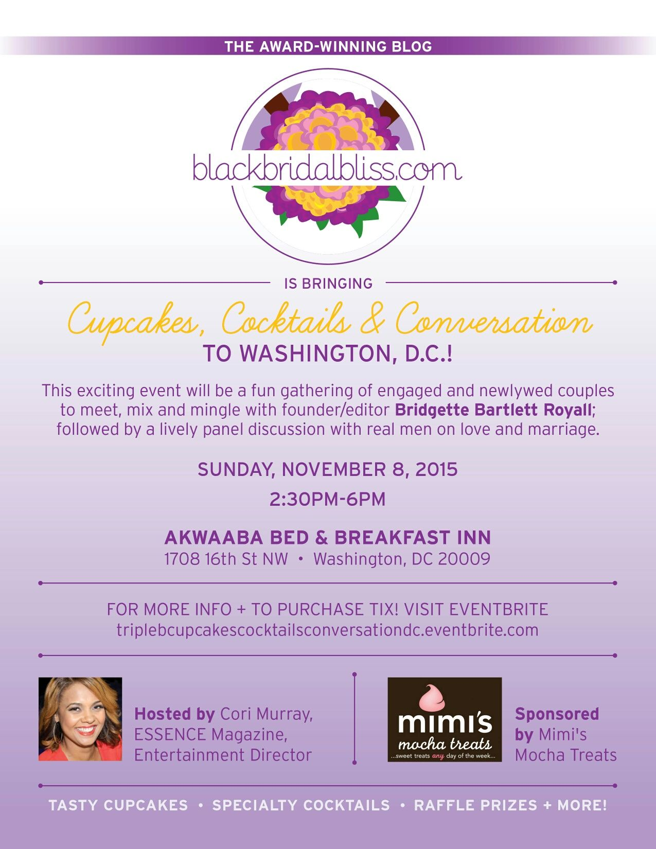 Cupcakes, Cocktails and Conversation is coming to Washington D.C! Find out more info at http://bit.ly/1OpEekc