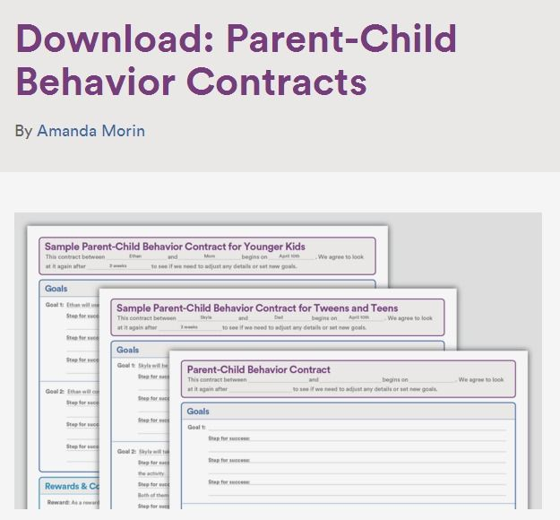 Download Parent-Child Behavior Contracts Behavior contract, Teen