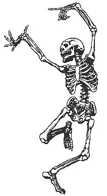 skeleton dancing public domain clip art image paintings