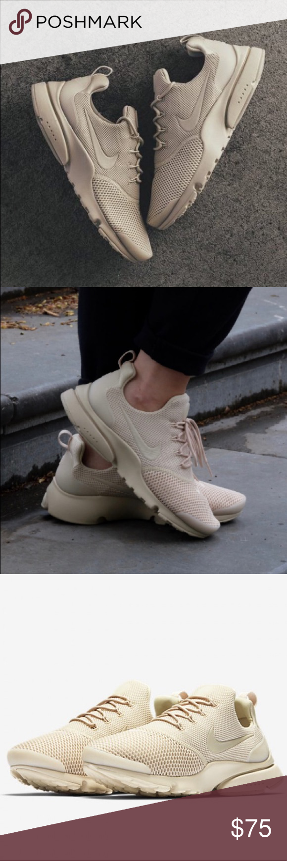 55cb63323c4d Nike Presto Fly New women s Nike Presto Fly in Oatmeal cream! These come in  full boxes    pics to come   Nike Shoes Athletic Shoes