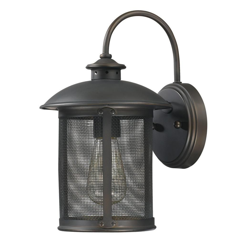 Capital Lighting Dylan Collection 1-light Old Bronze Outdoor Wall Mount, Brown (Glass)