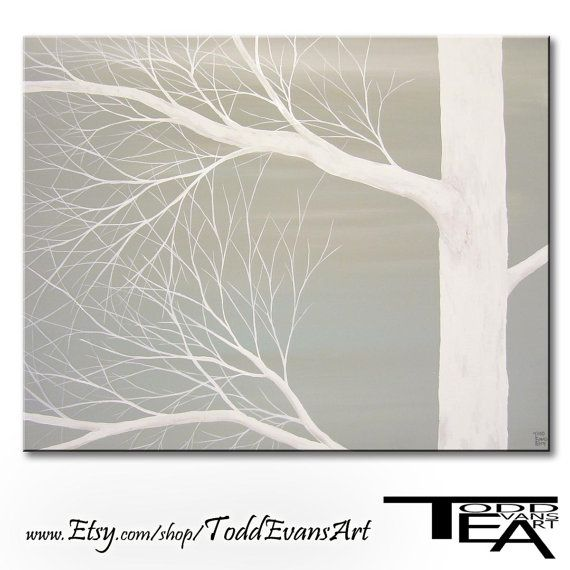On Sale Today Grey Painting Gray And White Canvas By Toddevansart 40 00 Grey Painting Easy Paintings Diy Artwork
