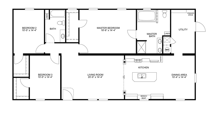 Clayton Homes Home Floor Plan Manufactured Homes Modular Homes Mobile Home Mobile Home Floor Plans House Floor Plans Modular Home Plans