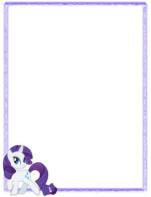 My Little Pony: Geniales bordes decorativos de hojas de My Little ...