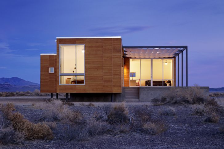 Nottoscale's Rondolino Prefab is an Energy-Efficient Home in ... on desert small homes, desert modern homes, desert dome homes, desert pool homes, desert sustainable homes,