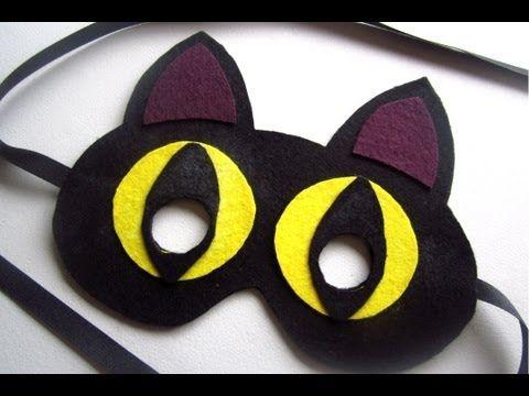▷ {Halloween} DIY Cat Mask - YouTube craft ideas Pinterest - halloween crafts ideas