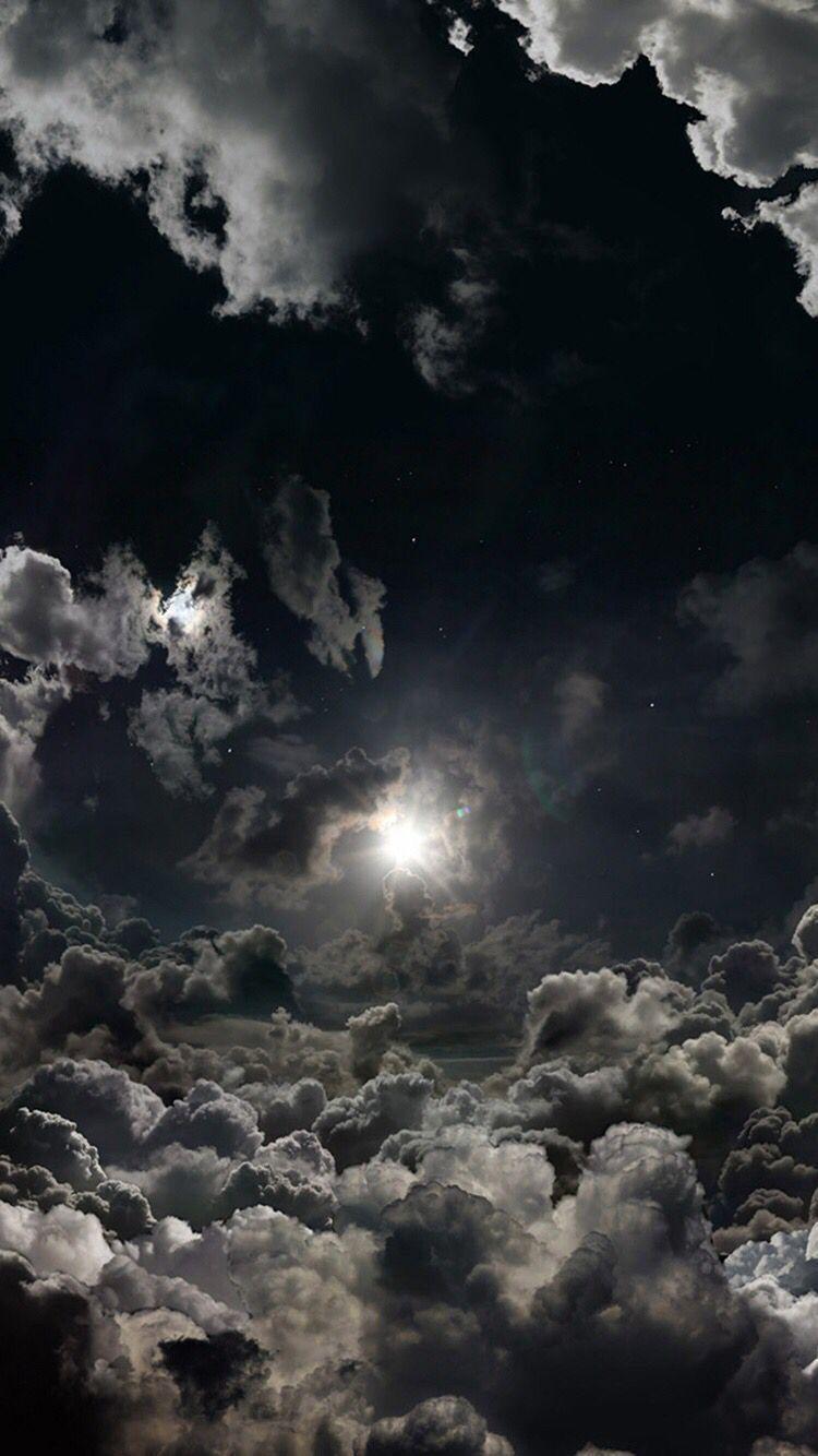 Sky, Cloud, Nature, Atmosphere, Daytime, Moonlight iphone wallpaper #darkwallpaperiphone #darkiphonewallpaper