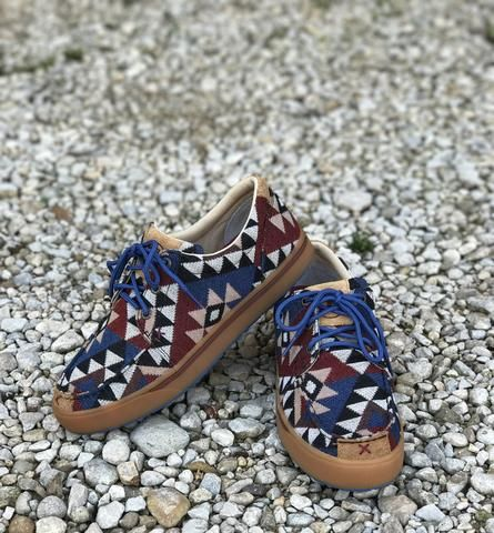a6e9d774114e Casual Aztec Pattern Canvas HOOEY Shoe by Twisted X