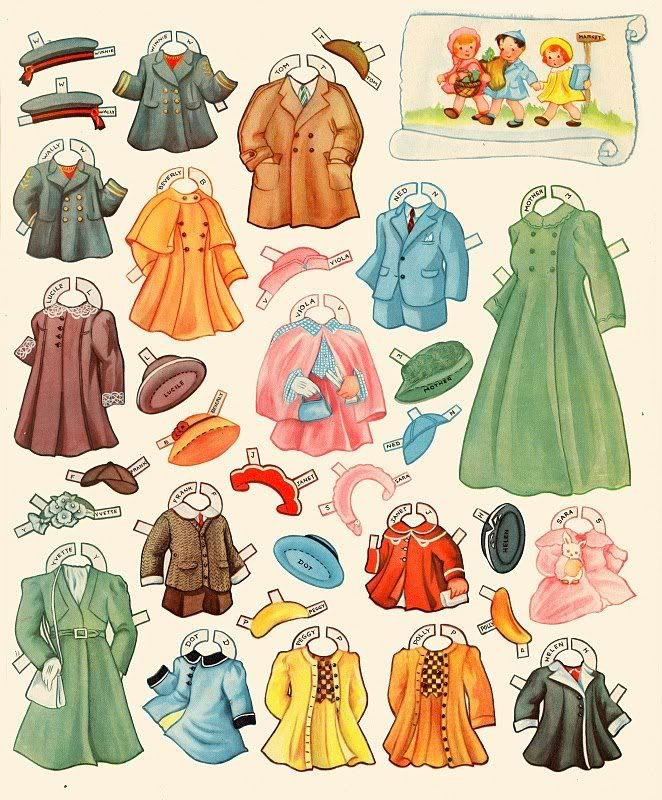 Old Lady who Lived in A Shoe Paper Dolls