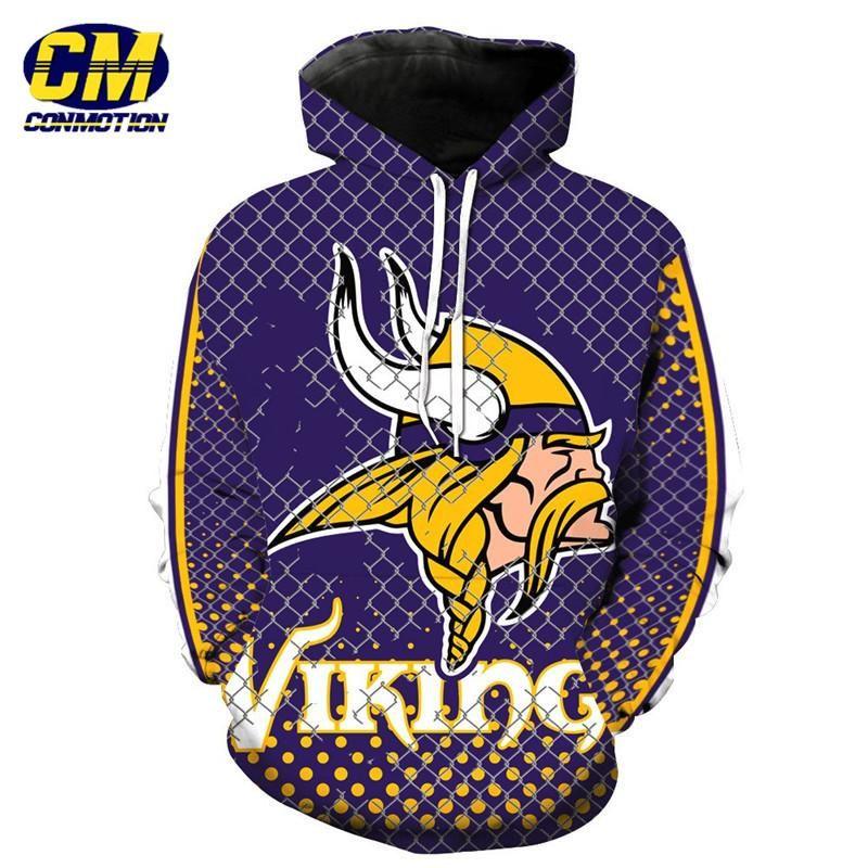new product 5dc56 e925d nfl American Football Fashion 3D Hooded Sweatshirt Cool ...