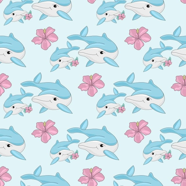 sea travel seamless pattern color vector illustration dolphins paper for  birthday, tropical, travel, dolphin png and vector with transparent  background for free… | color vector, vector illustration, vector background  pattern  pinterest