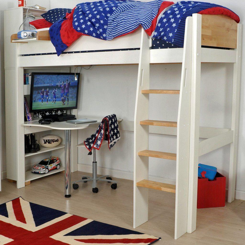 Loft bed with desk cheap  Kids Avenue Urban Highsleeper  with Desk u Shelves  Bunk beds wit