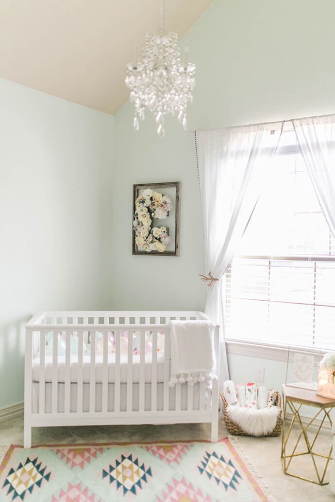 A Light And Airy Nursery Tour Baby Room Colors Pastel