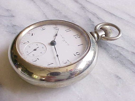 1903 18s Antique Seven Jewel Elgin Pocket Watch By Swingbix456
