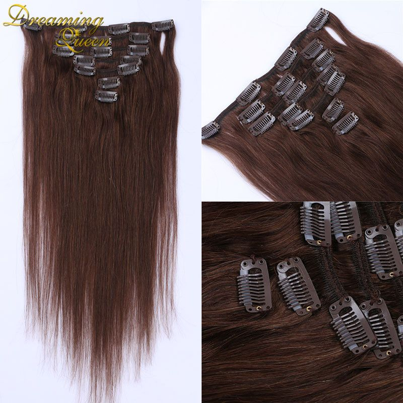 Cheap Hair Extensions Clip In Human Hair Straight Clip In Human Hair