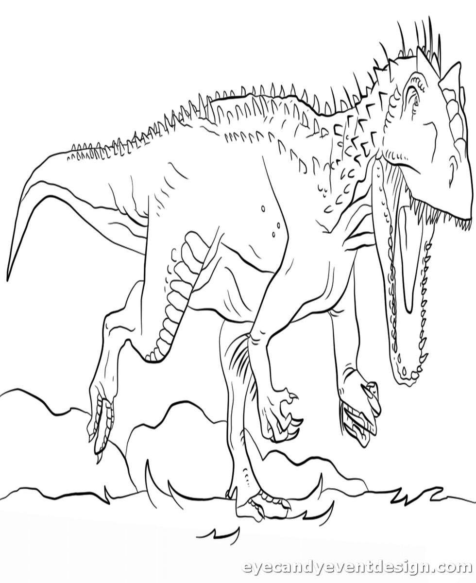 Dinosaurier Bilder Zum Ausmalen Kostenlos  Dinosaur coloring