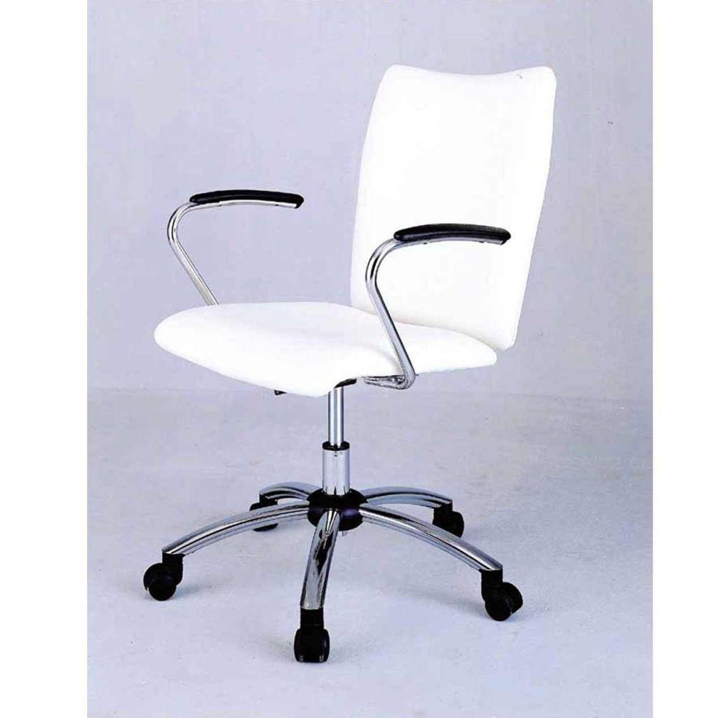 White Desk Chair With Wheels Stuhlede Com Maison Et Appartement Chaise Roulante Chaise Bureau
